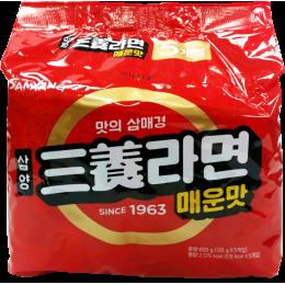 三養經典拉麵(辛辣風味) 삼양라면매운맛 120g/5包 全新 G-4549