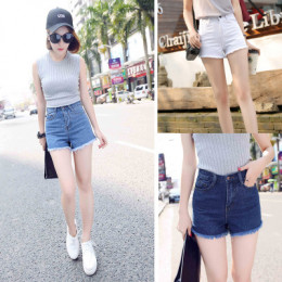 品名: 韓國東大門牛仔褲短褲(白色) J-13830 全新 G-2004
