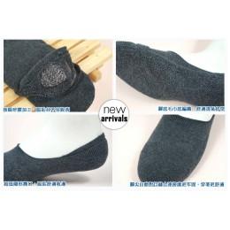 品名: 厚底超低口-一體成型隱形氣墊襪-後跟防滑(加大款)(灰色) J-13349 全新 G-1909