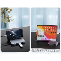 品名: 11合一 Hub轉接器 轉USB3.0|USB C|HDMI|VGA|RJ45 網路線|SD|TF多功能集線器(顏色隨機) J-14522 全新 G-3241