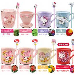 7-11 便利商店 三麗鷗角色陶瓷杯附立體公仔(Hello Kitty x 美樂蒂咖啡濾杯) 全新 G-2174