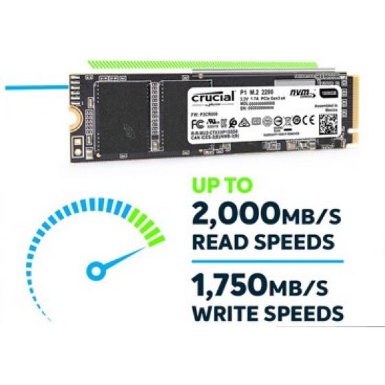美光 Micron Crucial P1 1TB M.2 2280 PCIe SSD固態硬碟/(五年保) 全新 G-3837