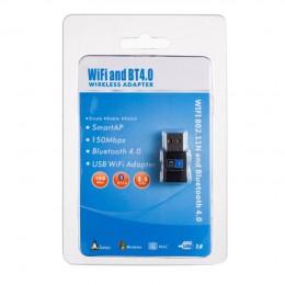 品名: WIFI-150M藍牙二合一無線網卡USB WIFI接收器 RTL8723BU晶片藍牙4.0適用桌電/筆電/家庭/工作室 J-14474 全新 G-3937