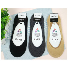 索取試用品 - 品名: 無縫合編織-萊卡彈性無痕超低口隱形襪-後跟防滑(加大款)(膚色) J-13305 全新 G-4281
