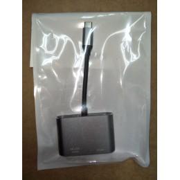 品名: USB3.1 Type-C視頻線,USB3.1 Type-c To HDMI母+VGA母頻轉接線(顏色隨機) J-14627 全新 G-4382