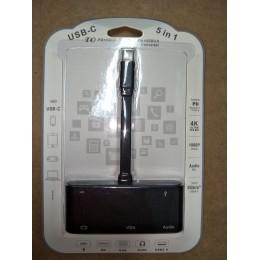 品名: 4k*2k USB3.1 Type-C 轉HDMI VGA含音頻支持PD上行供電轉換線 J-14637 全新 G-4381