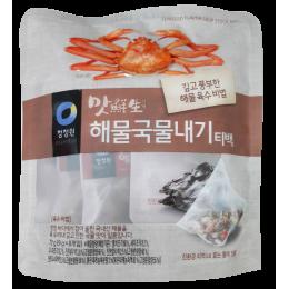 清淨園韓式海鮮小魚乾湯包청정원 맛선생 해물국물내기티백10g/8包 全新 G-5149