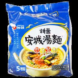 安城湯麵 (海鮮味) 해물안성탕면112g/5包 全新 G-6556