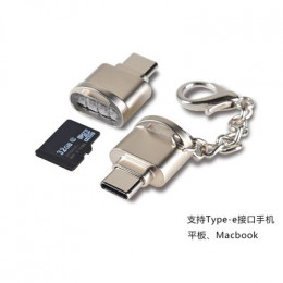 活動贈品_品名: 鋅合金type-c microSD/tf手機讀卡機usb3.1 otg讀卡機(顏色隨機) - 需與其它商品同時結帳限購一組 全新 G-7115